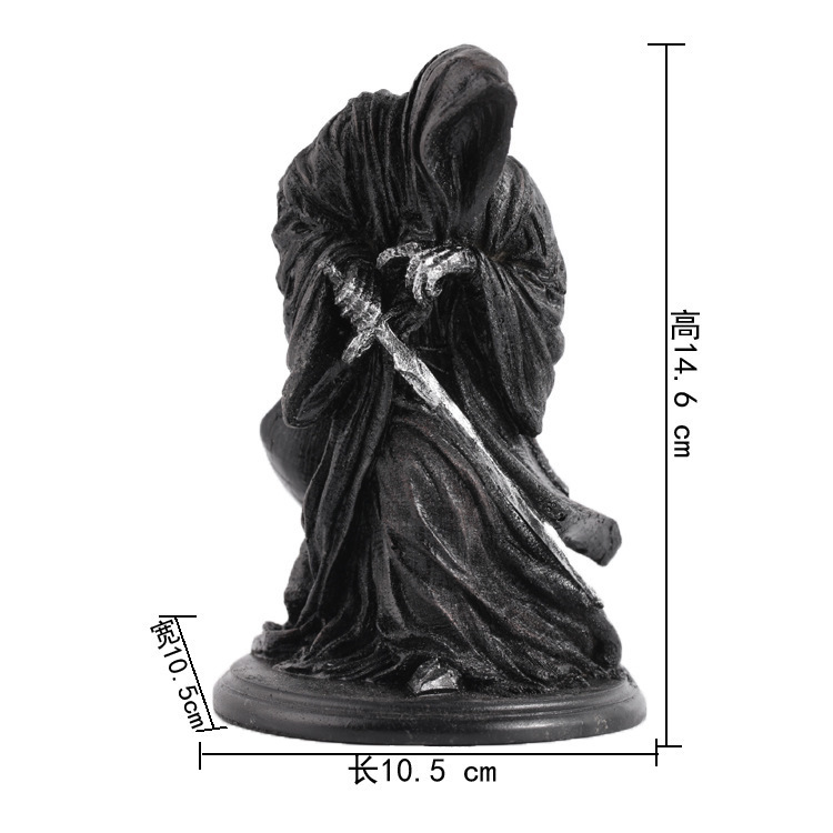 Ringwraith The Lord Of Rings Dark Knight Witch King Black Riders Statue Creative Game Model Decoration Mascot Antique Mascot Kids Gift (3)