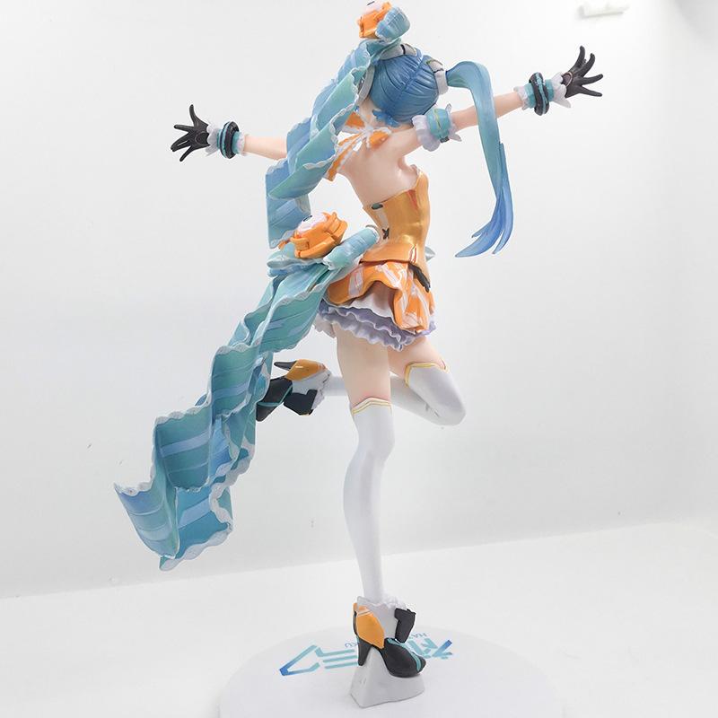 Free Shipping 9 Anime Volcaloid Hatsune Miku Orange Blossom Princess ver. Boxed 23cm PVC Action Figure Model Doll Toys Gift (2)