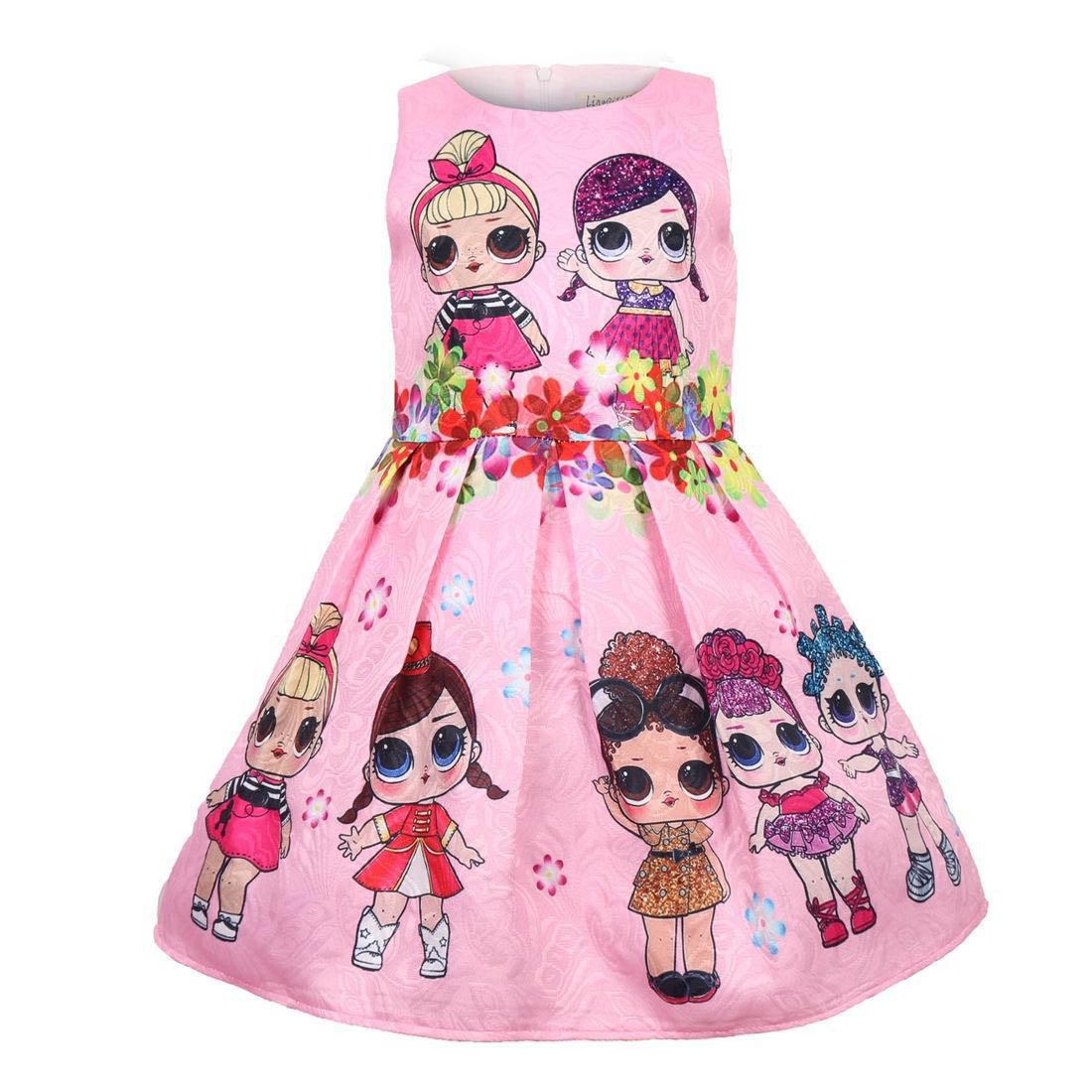 Baby Kostüm Kleid mit Schneemann Weihnachtskleid Mädchen Festkleid Partykleid