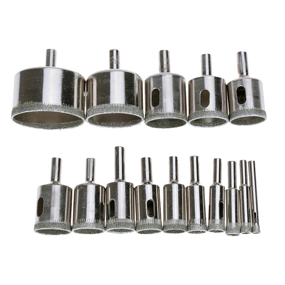 """2Pcs 1 3//8/"""" Pouces Diamond Coated Tool Drill Bit Trou Scie verre carrelage céramique 35 mm"""
