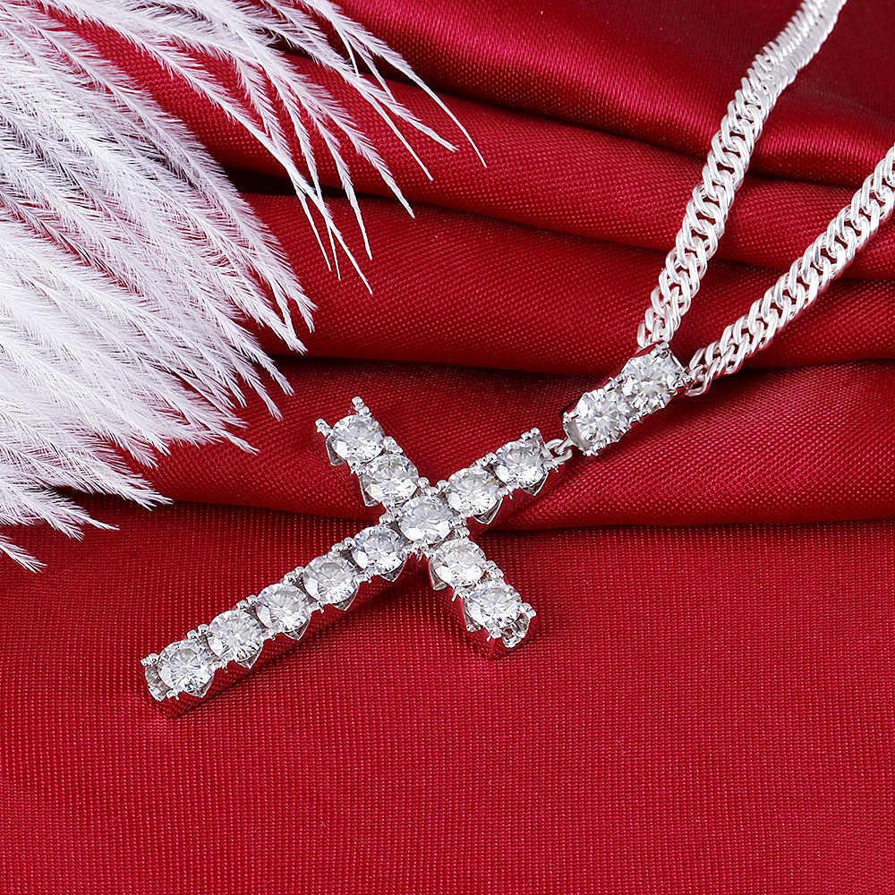 moissanite cross pendant necklace for man (2)