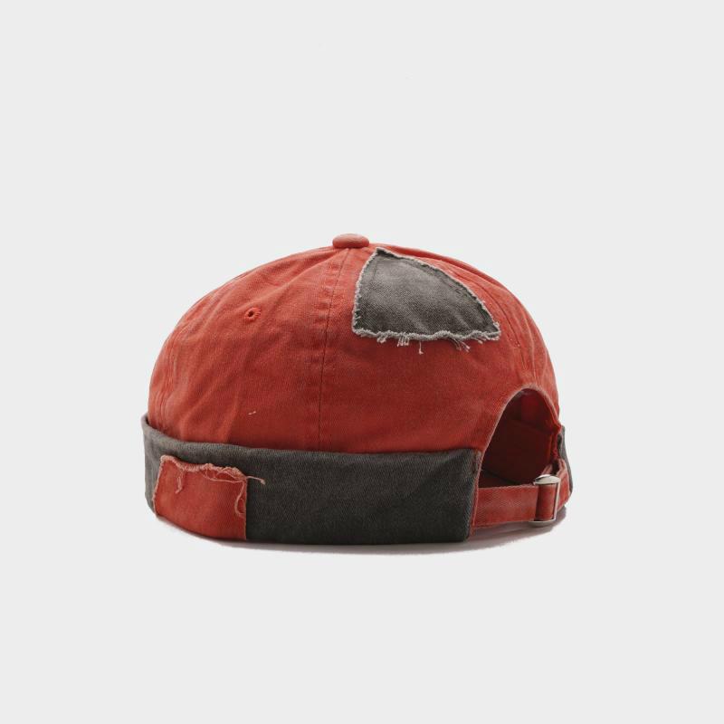 2019 Adult Retro Street Skullcap Casual Short Denim Patch Hole Hip Hop Hat Beanie Skullcap Retro Navy Fashion Beanie Skullcap Y19070503