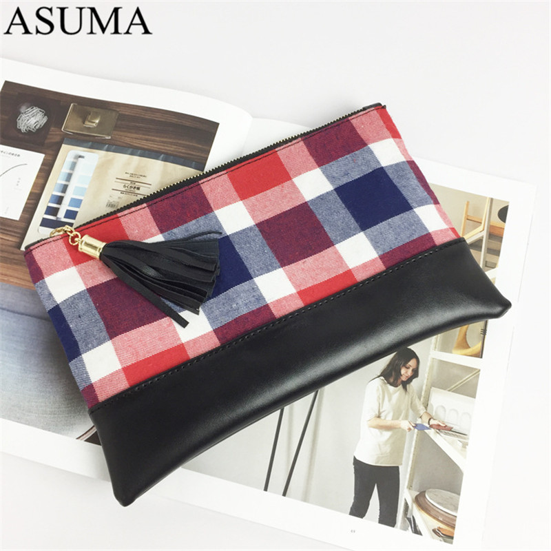 plaid canvas clutch (7)