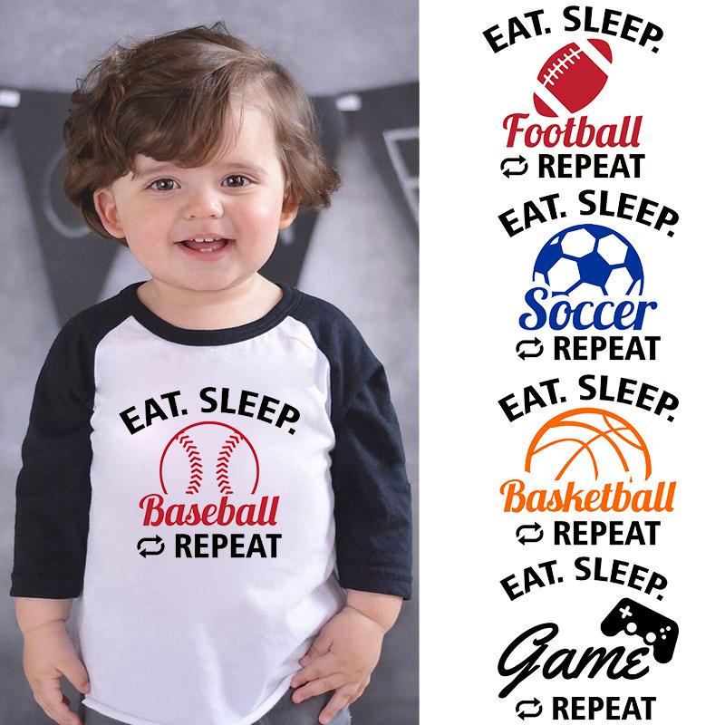 LLiYing-D Eat Sleep Baseball Repeat Adult Mens Fashion Long Sleeve Sweater T-Shirts
