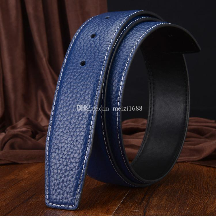 Fashion Men Belt Designer Luxury Business Smooth H Buckle Mens Belts For Luxury Belt With Box