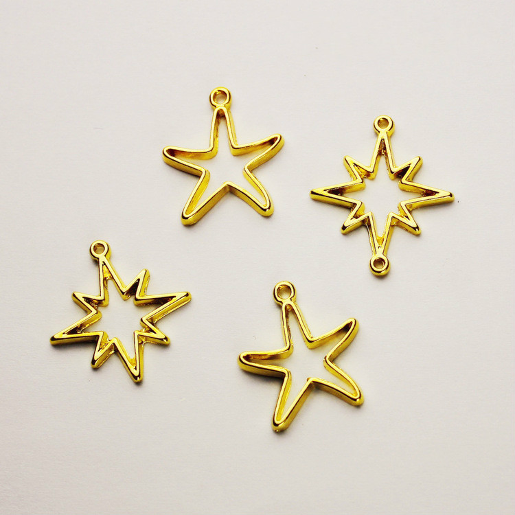 Lot 10 20 50 100 Antique Silver Starfish SeaStar Pendant Charm 19x12mm US Seller