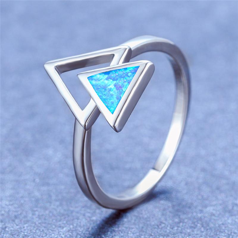 Élégant Femme Bleu turquoise bagues Gemme Mariage Fiançailles Anneaux 6-10