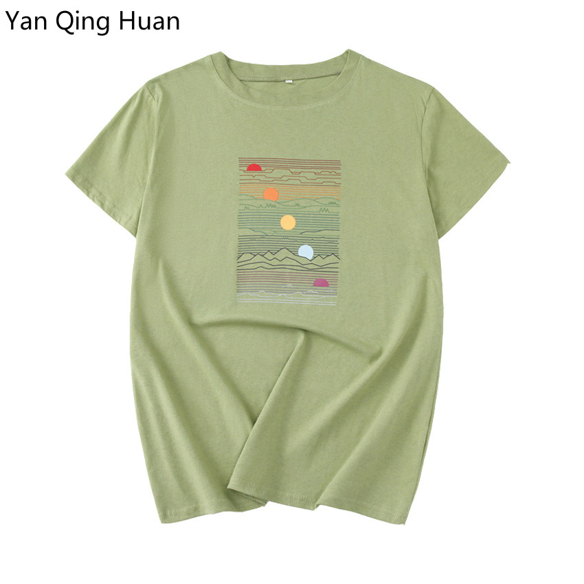Cotton T-Shirt,Boat in Windy Sea Sun Fashion Personality Customization