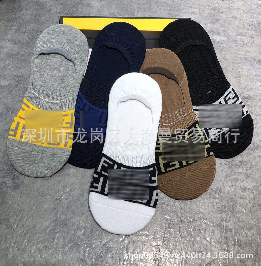 Chaussettes courtes pour hommes en coton, sportives, de style décontracté, chaussettes en coton, chaussettes pour hommes, chaussettes 5 couleurs