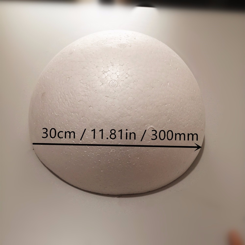 Polystyrène Ball en 2 creuse moitiés 1 Ball x 300 mm
