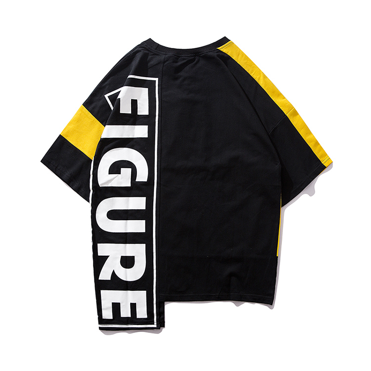 Suppliers Summer Hip Hop T Shirt Men Fashion Print Solid Cotton T-shirt Streetwear Swag Tees Shirts C190416