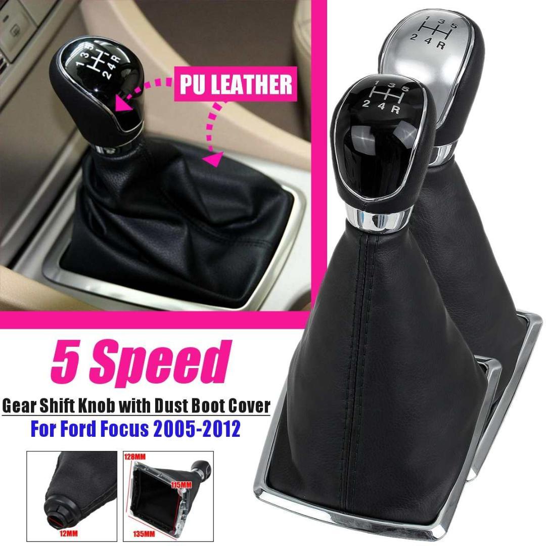 Red-A6 Speed Pour Mini Cooper F55 F56 F54 F60 Manuel de vitesse de voiture Pommeau de levier de vitesses Couverture Gu/être Botte en cuir
