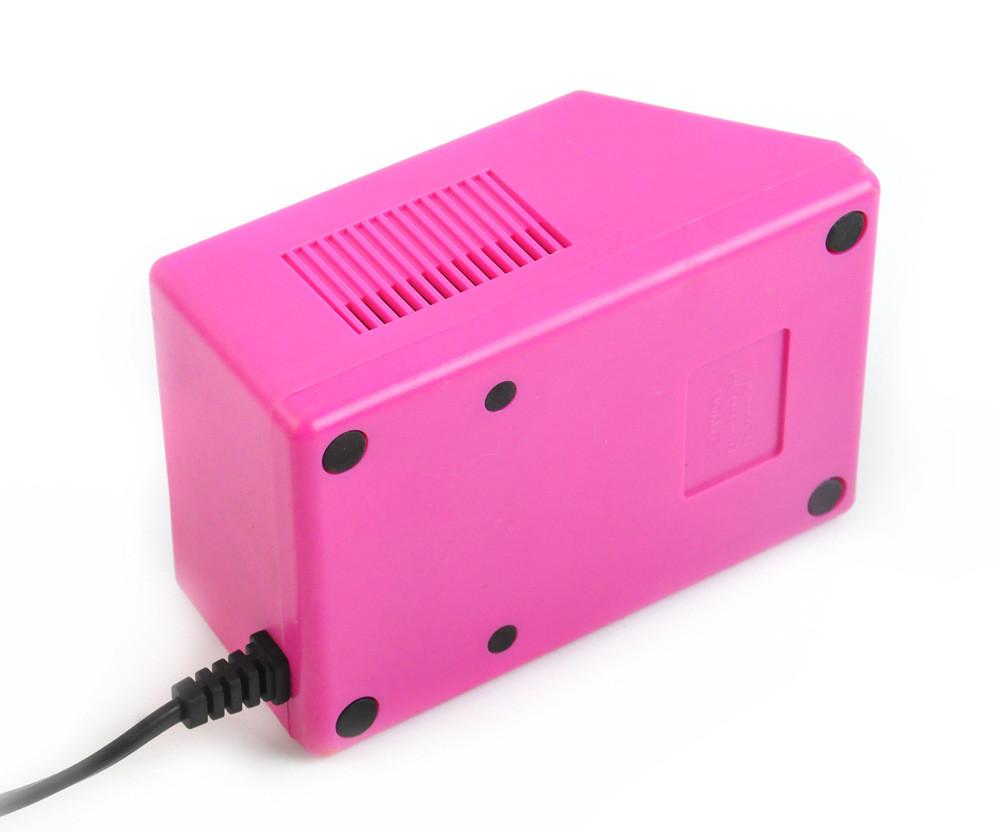 Electric Acrylic Nail Art File Drill Set Manicure Machine Sand Drill Pink Kit #40-22-18