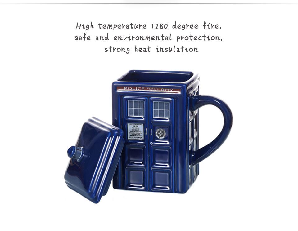 Doctor Who Tardis Police Box Ceramic Mug Cup With Lid Cover For Tea Coffee Mug Funny Creative Gift Christmas Presents Kid Men (6)
