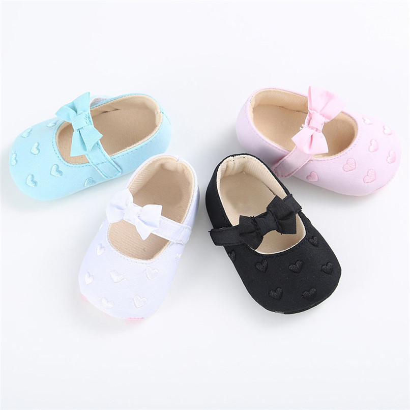 Summer Baby Girls Shoes Toddler Kids Baby Girl Canvas Solid Bow-knot Soft Sole Anti-slip Shoes Baby First Walker Shoes M8Y11 (2)