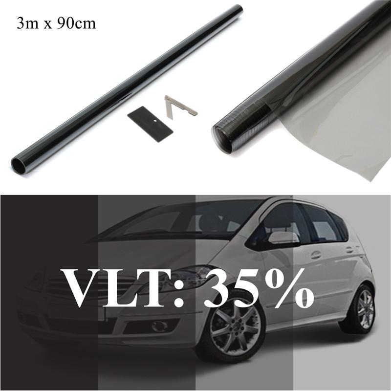 Car Home Office Glasss 36 x 60 Inch Uncut Roll Window Tint Film 50/% VLT 36 In x 5 Ft Feet