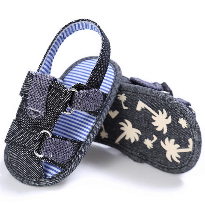 2 Color Summer Fashion Baby Boys Sandals Toddler Infant Kids Baby Boys Canvas Anti-slip Sole Crib Sandals Shoes M8Y02 (8)