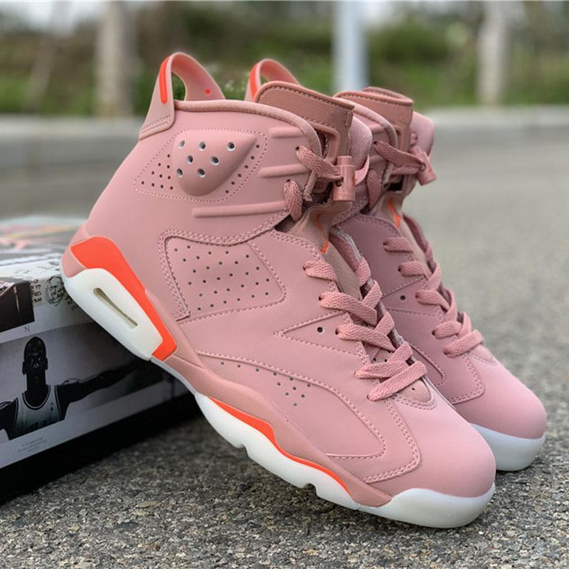 Rose AleAli mai X Bright Pink Chaussures de basket 6s Designer Sport Chaussures Trending Populaire Chaussures Hommes Femmes Chaussures Baskets en
