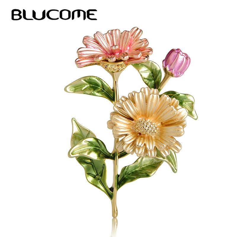 Blumenbrosche Blumenstrauß Kleidung Rucksack Pins Emaille Corsage Badge Icons
