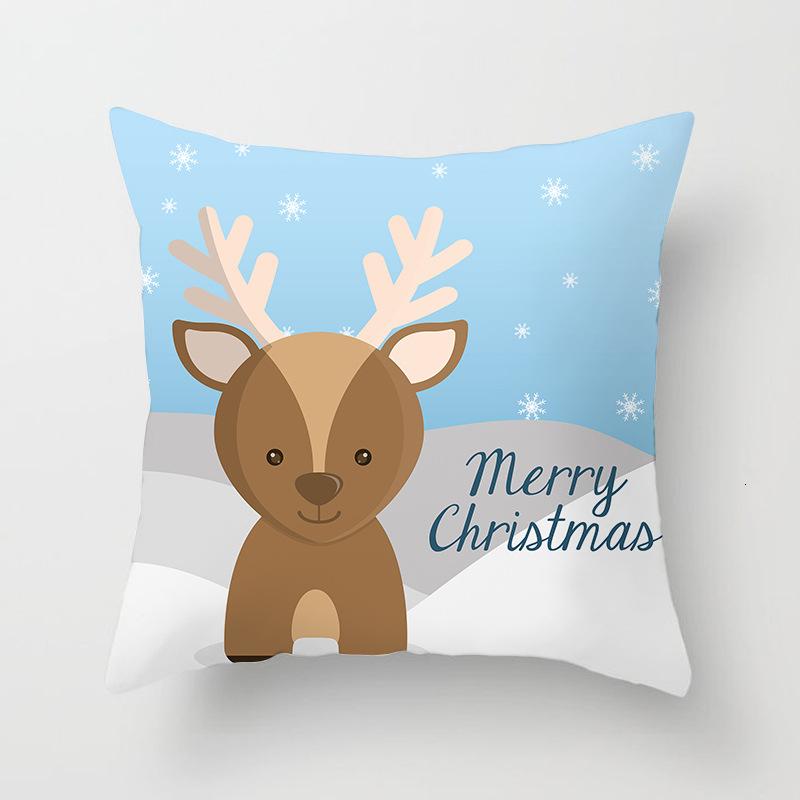 1Pcs 4545 Cm Happy New Year Christmas Decorations for Home Cartoon Santa Claus Xmas Decorative Pillows Cover adornos navidad (17)