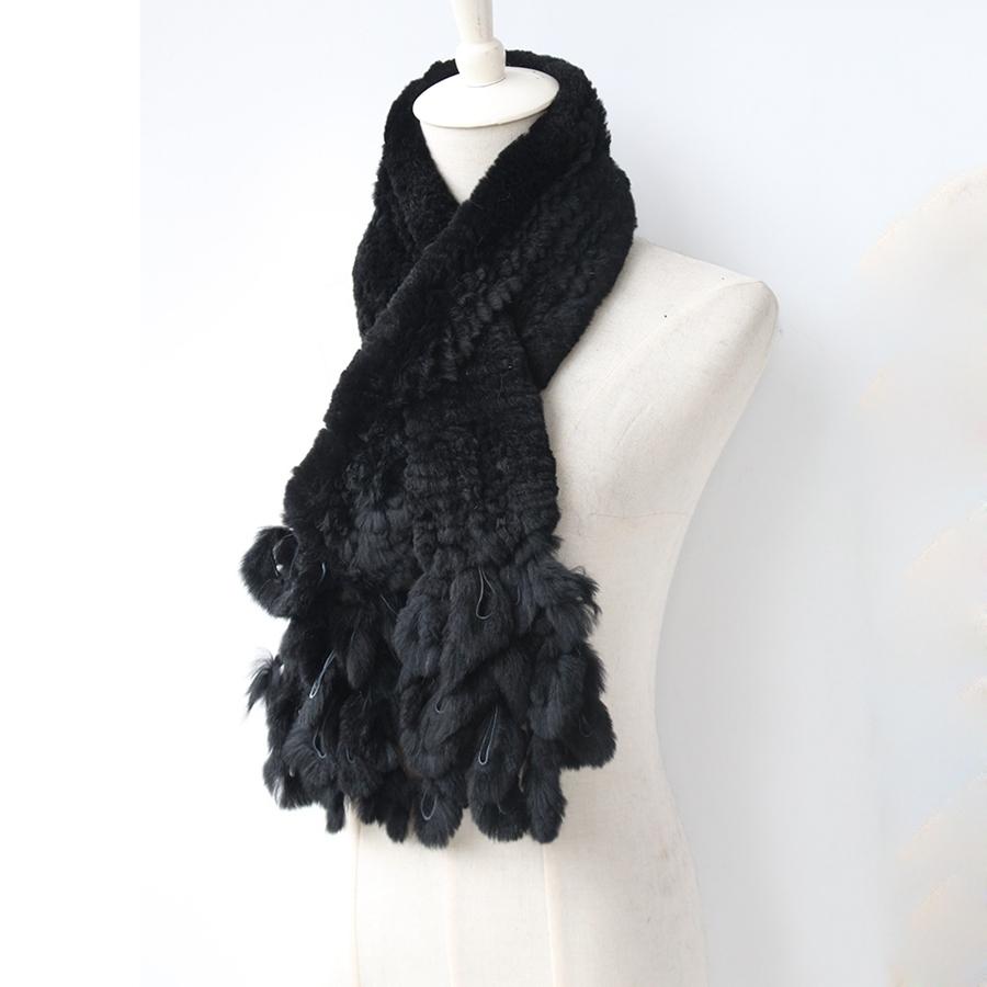 knitted rabbit fur scarf rabbit (3)
