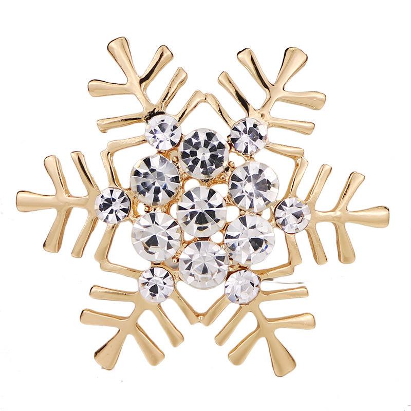 Classique strass alliage haut Archives Broche neige Broche plomb Vêtements aiguille et ornements