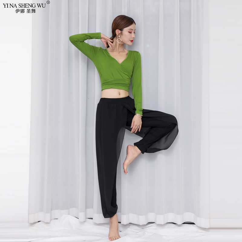 Rhinestone Long Pants Belly Dance Costumes Practice Dancewear Trousers 9 colors
