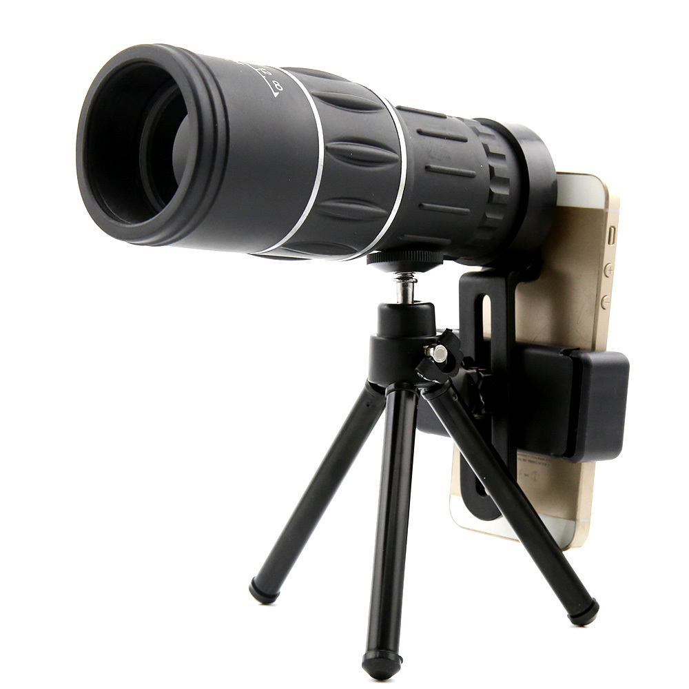 16X52 Dual Focus Telescope Lens HD Zoom Optical Telephoto Lens Universal for Smartphones Outdoor Camping Fishing With Tripod (2)