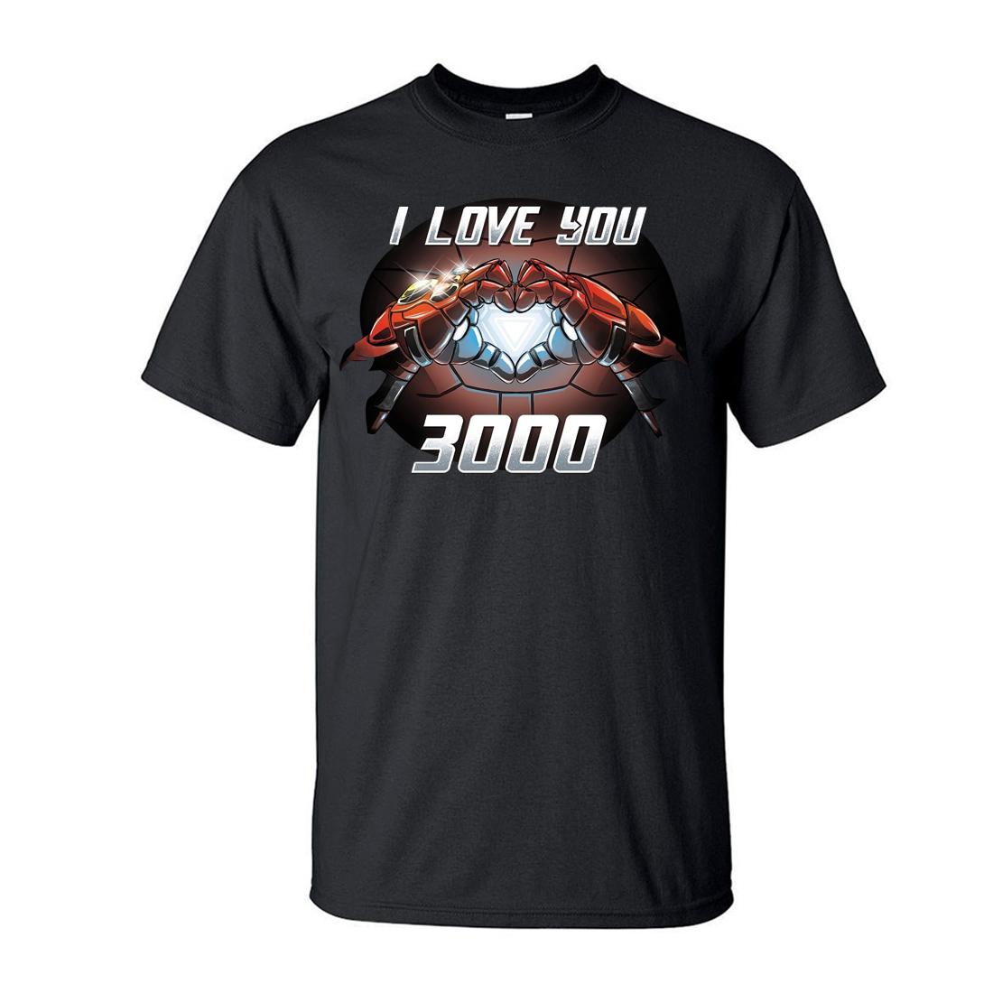 TonyStark ILove You 3000 T-ShirtMen The Avengers IronManMoiveShirt 2019 NewSummer Casual PlusSize Tops TeesS-3XL