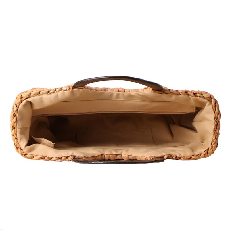 Women Vintage Rattan Handbag Female Bohemian Summer Beach Straw Bags Lady Simple Weave Bag Handmade Casual Large Tote SS3032 (10)