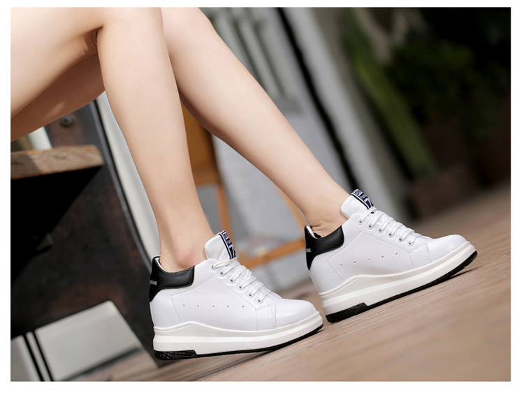 WADNASO Height Increased Casual Shoes Woman Wedge Platform Sneakers Lace Up Breathable Hide Heels Ladies Shoes Female XZ108 (16)
