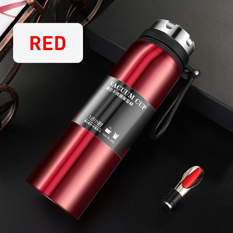 YIHAO 1000ML vendita calda Doppia parete Thermos bottiglia di vuoto dell'acciaio inossidabile esterna di grande capacità portatile viaggio Thermos Boccette Y200106