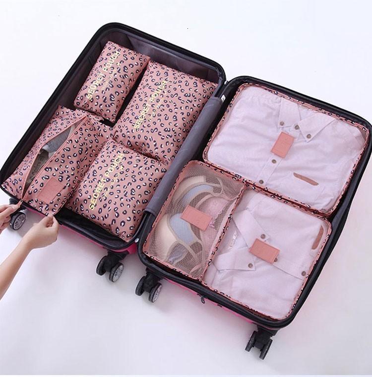 2019 Nouveaux / set de haute qualité en tissu Oxford Sac Mesh Voyage dans le sac d'emballage Organisateur bagages Cube organisateur pour Chaussures Vêtements