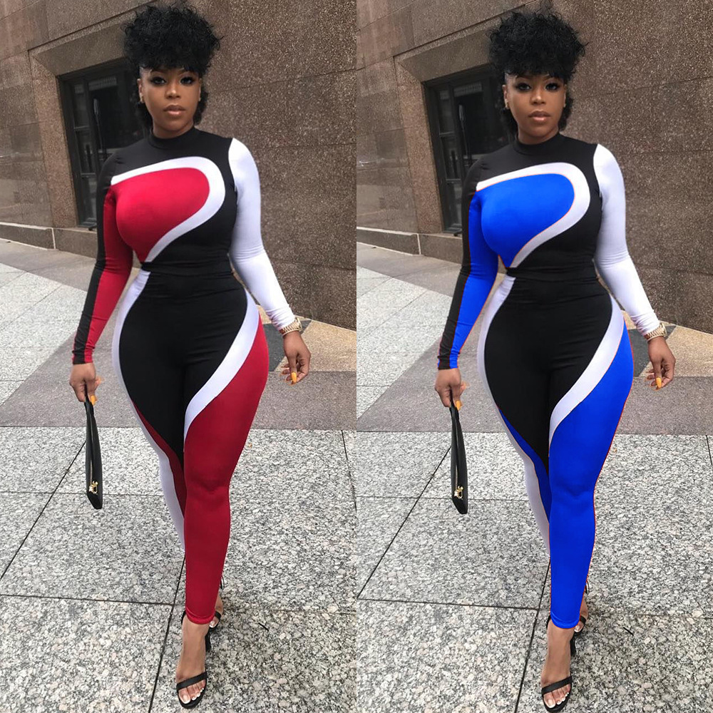 Nuevo traje de deporte de manga larga ajustada de manga larga con traje de deporte ajustado para mujer.