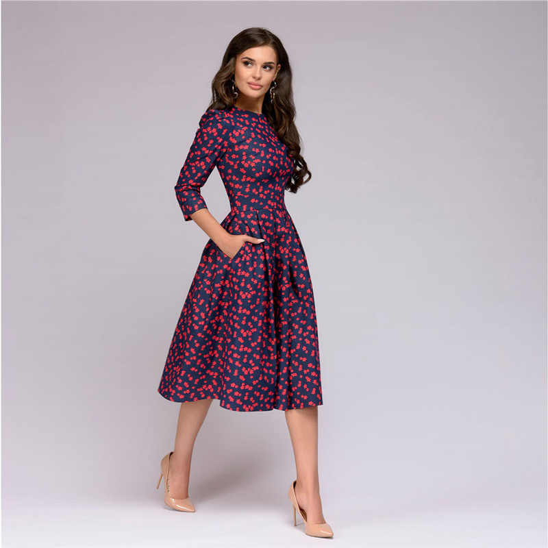 2019 Womens Dresses New Arrival 2018 Fall Casual Printing Party Dress  Ladies Autumn Summer Vintage Christmas Dresses Plus Size D18122801 From  Tai002, ...