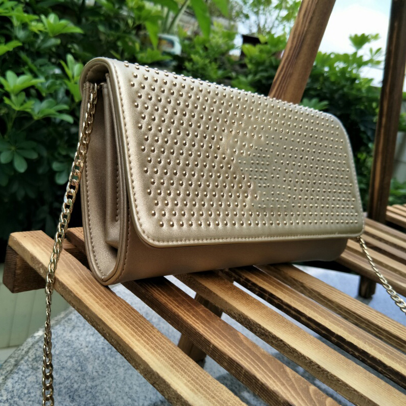 Bag Wallet Flip New Fashion Square Bag Medusa Head Personalized Rivet Large Capacity Bag 151