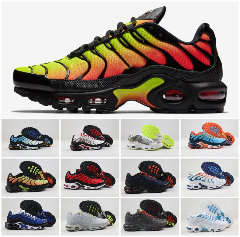 Designer 2020 Air Tn plus Chaussures de course de haute qualité d'origine plus Tn Hommes Chaussures Triple Blanc être vrai Noir Chaussures Tns GS