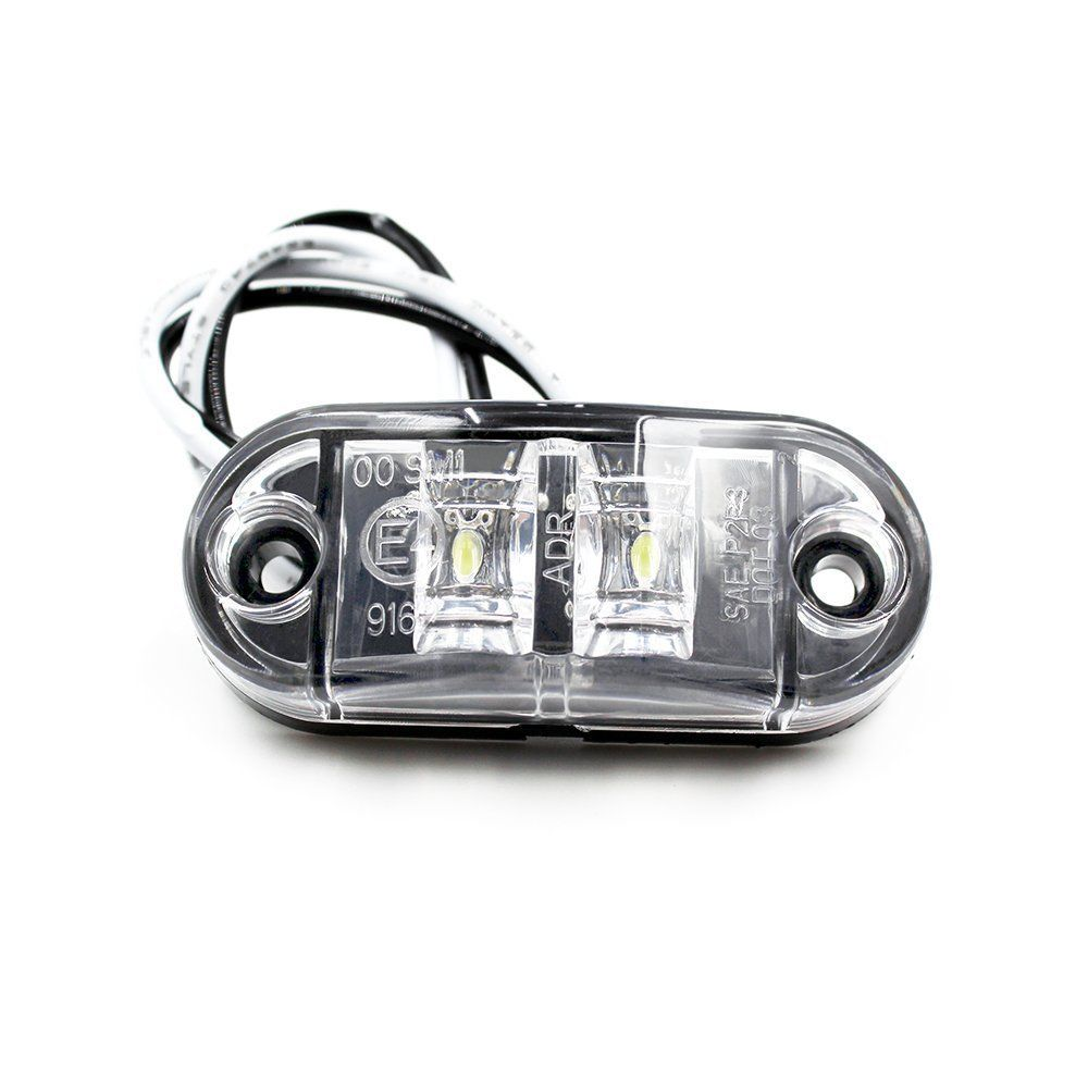 Car Styling Accessories 10X White Side Marker Light Rear LED Clearence Lamp Indicators Truck Trailer Car Boat
