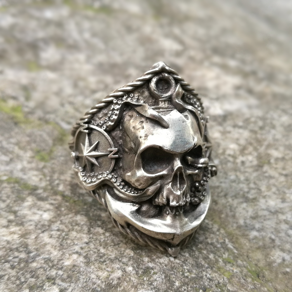 Skeleton Skull Steampunk Biker Pirate Grunge Pendant Necklace Gothic Punk Rock