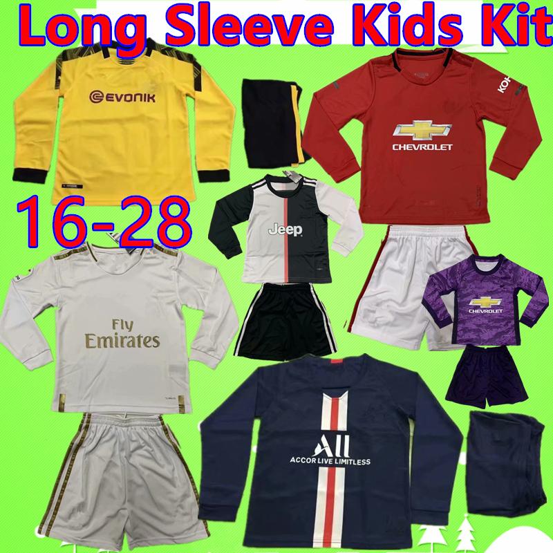 2019 Bambini Bambini Ragazzi Ragazze POLO netto manica lunga T-shirt 2-13Y
