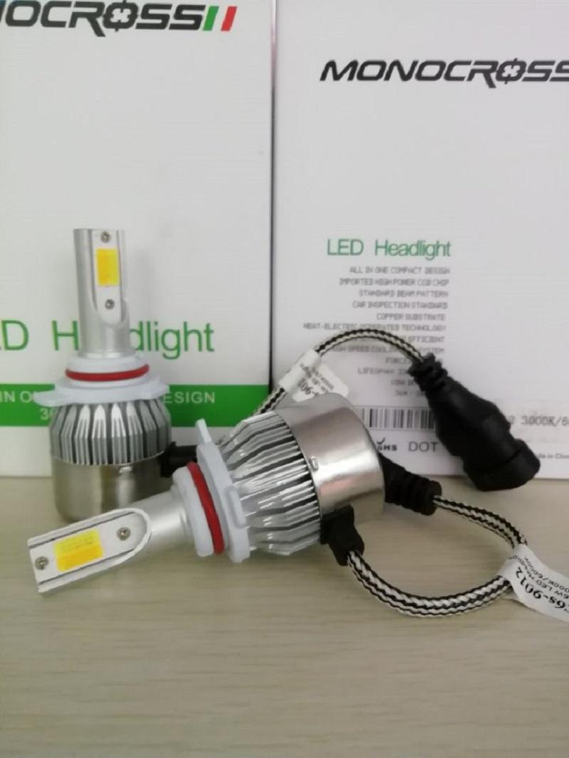 uxcell 2 Pcs 55W 9006 LED Headlight 6000K 3000K 4300K White Yellow Bulb Lamp for Car