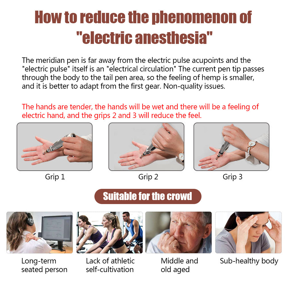 Electric Pen Electronic Meridian Energy Body Massager Pain Instrument Massage Relaxation T190711
