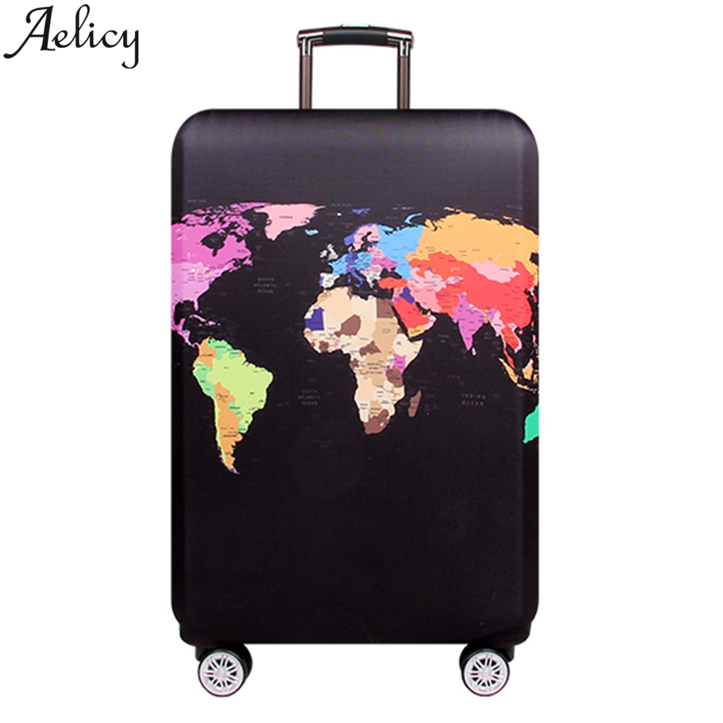 Smart And Talented Purple Unicorn Travel Suitcase Protector Zipper Suitcase Cover Elastic