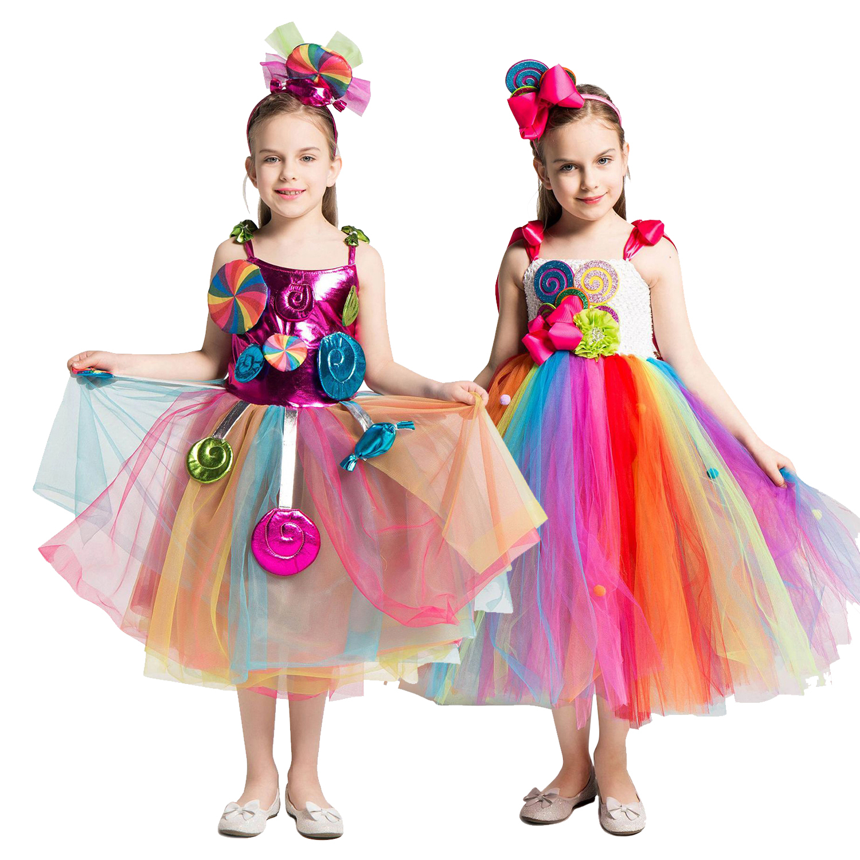 kids Girls Chiffon Dress Korean Printing Flower Fairy Pageant Tutu Dresses