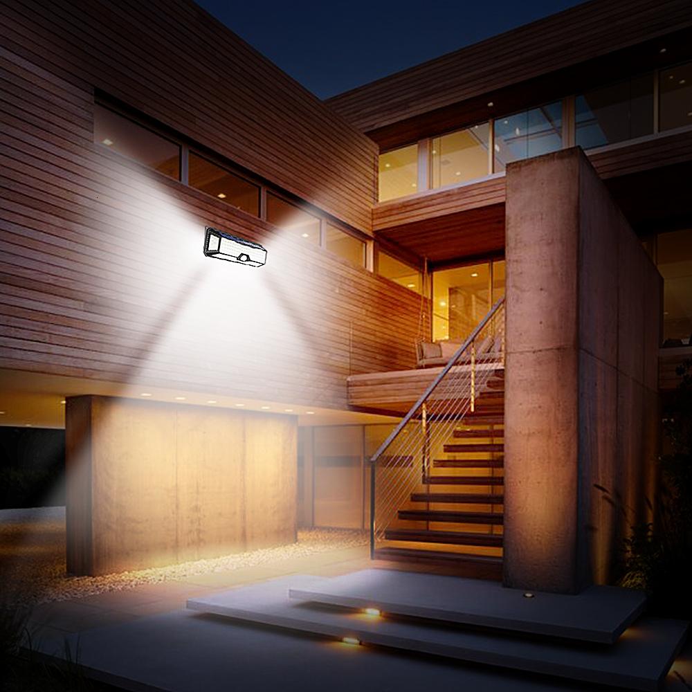 136 LED Solar Street Light For Home Garage Garden Light Solar Powered Wall Street Lamp with Motion Sensor Solar Light Waterproof (8)