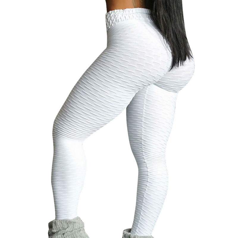 Women Hot Yoga Pants White Sport Leggings Push Up Tights Gym Exercise High Waist Fitness Running Athletic Trousers C19040801