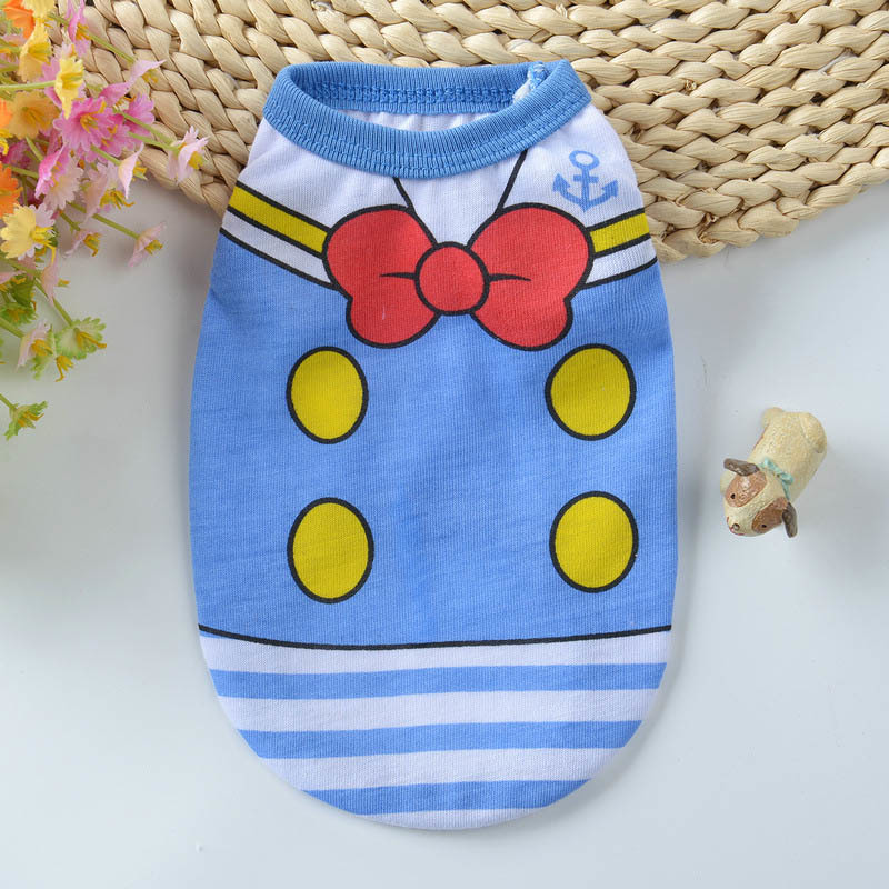 Cartoon Dog Vest Summer Clothes For Dogs Shirts Cotton Small Medium Dog Clothes Summer Pet Shirts For Dogs Costume Cat Clothing Wholesale