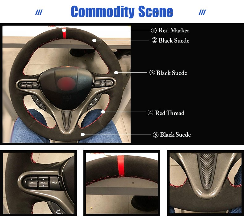 for Honda Civic 8 2009 steering wheel cover