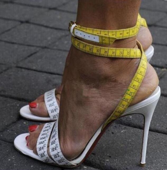 Summer Unique Design Ruler Cross High Heel Sandals Charming Ankle Straps Sandals Sexy Party Dress Stiletto sandal ruler sandal