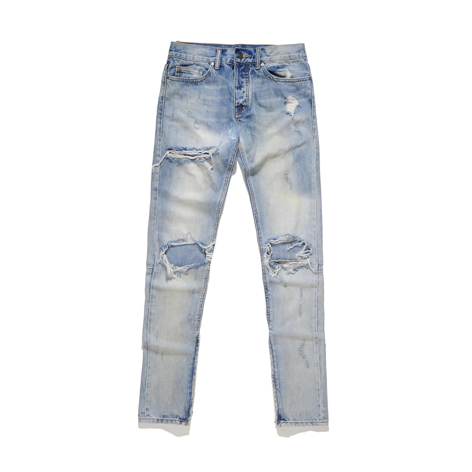 Cool2019 Blue Holes Trend Jeans Hip-hop Street Dance Beggar Pants Student Leisure Time Trousers Bottom Of A Trouser Leg Zipper
